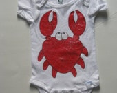 Hand Painted Crab onesie\/shirt