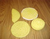 Crocheted Nylon Net Scrubbies Scrubber Set of Four