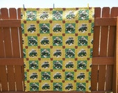 John Deere Quilt Quilted Throw ON SALE Farm Handcrafted