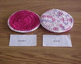 Dish Scrubbies, Dish Scrubbie, Crochet, Nylon Netting, Housewares, Dish Cloth Back, Scrubbie, Dish Pot Scratcher, Scrubber, handmade
