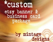 Custom Etsy Shop Graphic Design Package (banner, avatar, and business card)