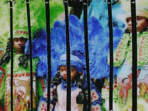 A Family Affair - Mardi Gras Indian Segmented Bracelet