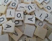 225 Wooden Scrabble Tiles