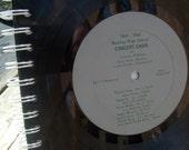 Livonia Michigan - Bentley high School choir -  upcycled vinyl record notebook