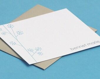 personalized stationery set - personalized stationary set - note cards - stationery set - thank you notes - pinwheel twig