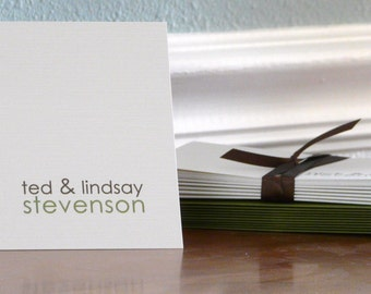 Personalized Couple Stationery Set - personalized stationary set - thank you notes - note cards - couple - first on top of last