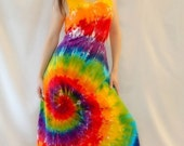 Tie Dye Rainbow Swirl Maxi Dress