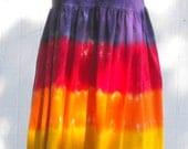 Tie Dye Adult Rainbow Empire Waist Dress