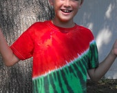 Tie Dye Watermelon  T Shirt in Toddler and Youth Sizes