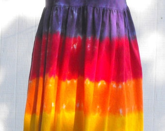 Tie Dye Adult Rainbow Empire Waist Dress