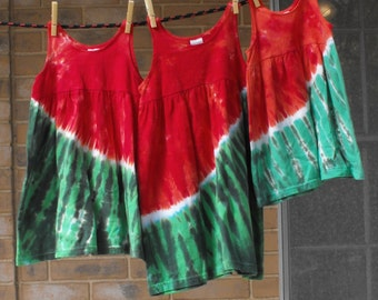 Tie Dye Watermelon Dress for Girls