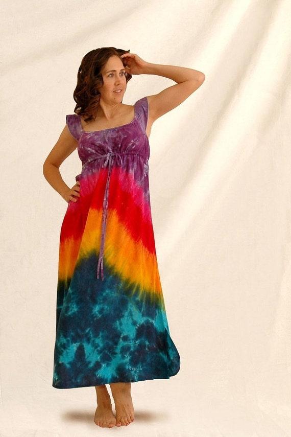Rainbow Regency Hippie Dress