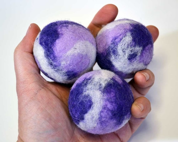 Juggling Balls in Purple, Lavender, and White
