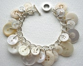 Pearly King and Queen Cream Button Bracelet
