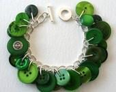 Button Bracelet Emerald City Green