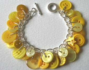 Lemon Spritzer Button Bracelet