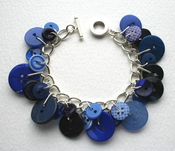 Blue Sky Button Bracelet