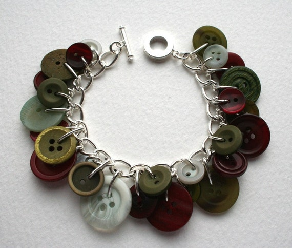Garden Of Earthly Delights Button Charm Bracelet