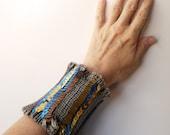 Sequined Elastic Cuff - Bohemian Bracelet - Luxurious armwarmer