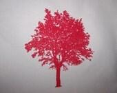 Reusable Organic Shopping Bag w\/ Red Tree Design