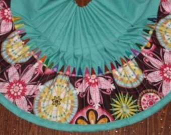 Carnival bloom crayon apron