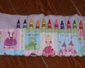 Princess crayon roll