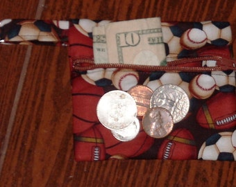 Balls coin pouch with swivel hook