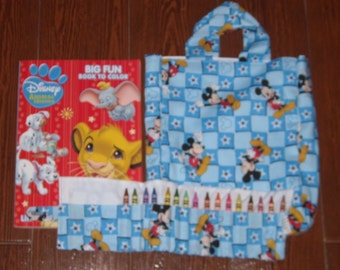 Mickey mouse Crayon Roll Set