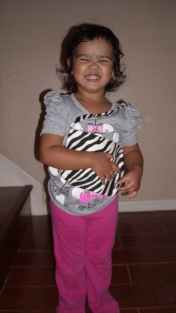 zebra stripes toddler purse