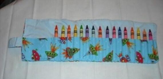 Rocket ship crayon roll