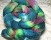Secret Garden Hand Painted Corriedale Roving