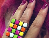 Adjustable Large Square Ring-Rubic Cube