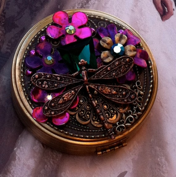 Dragonfly Keeper Of The Gypsy Emerald-Trinket Box-Pill Box