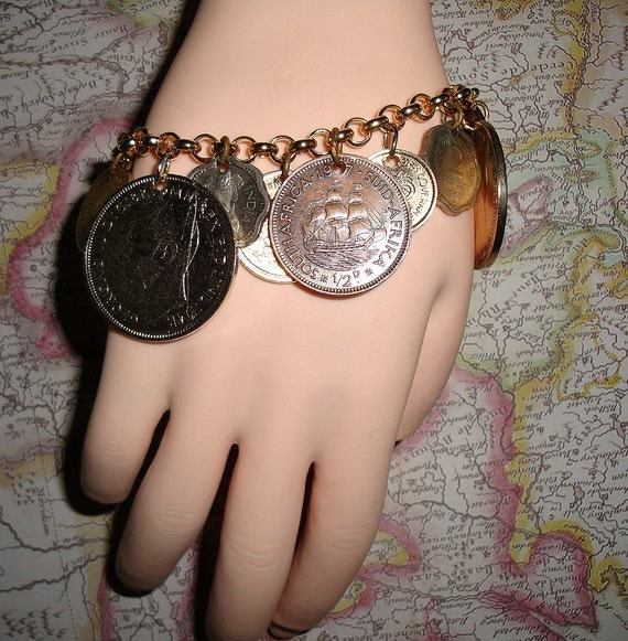 Bracelet Real Coins of the World Rolo Chain