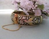 Vintage Bracelet birds and flowers