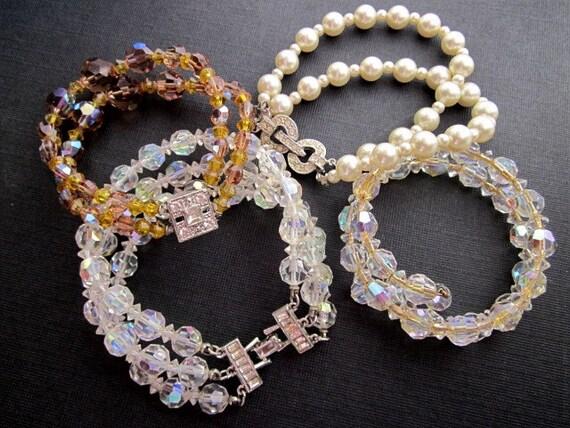 DeStash Vintage Bead Bracelets
