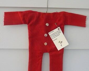 Primitive Santa long underwear ornie ornament