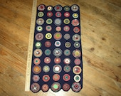 sale now WOOL PENNY RUG RUNNER cplg team(colorful wool pennies, HANDSTITCHED rug)