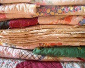 old quilt pieces destash lot 1 yd total vintage cutter quilt for craft supplies