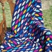 12-04-01 Multi-Color Bright Honeycomb Afghan