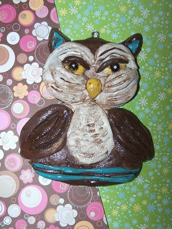 Whimsical Little Owl Cookie Ornament Ornie Folk Art Holiday