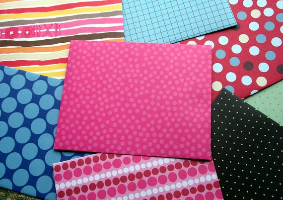 Bubblegum Bright Envelopes - Set of 8
