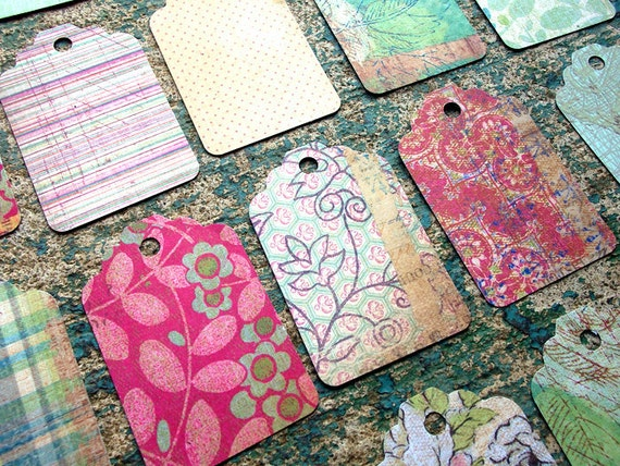 Funky & Floral Gift Tags - Set of 20