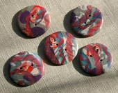 THIS MYSTERIOUS DNA - set of 5 unique handmade buttons