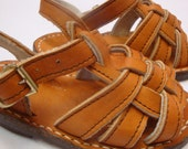 Vintage 70s Handmade leather sandals