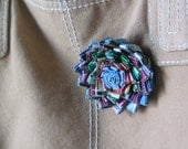 Zinnia Flower Pin -  Made with Junk Mail