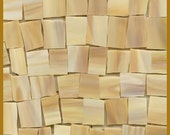 Mosaic Tile LIGHT n TAN ish Tiles Stained Glass 25 pcs