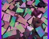 """Mosaic Tiles HOT IRIDESCENT 100 Stained Glass 1/2 - 1"""" Mosaic Tiles"""