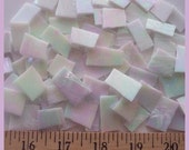 """Mosaic Tile 50 pcs IRRIDESCENT WHITE 1/2 - 1"""" Stained Glass Mosaic Tile"""