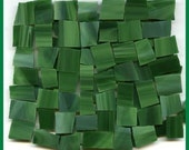 Mosaic Tile FUN FILLED GREENS Tiles Stained Glass Tiles 100 pcs Nice Sizes